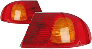 Outer Tail Light Replacement For Toyota Corolla Driver Left and Passenger Right Pair Set 1998 1999 2000 2001 2002 Taillamp Assembly