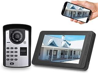 OWSOO 7'' Videoportero WiFi Cableado, 1000 Huellas
