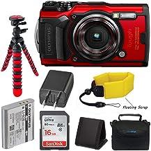 Olympus Tough TG-6 Waterproof Digital Camera (Red) + Pixibytes Basic Bundle + Underwater Package