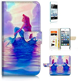 (for iPod Touch 5 6 / iTouch 5 6) Flip Wallet Case Cover & Screen Protector Bundle - A21517 Little Mermaid Ariel 21517