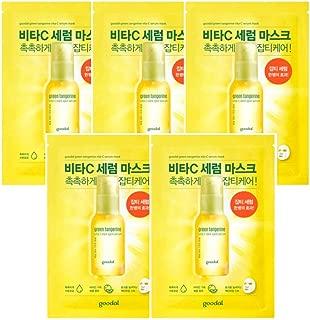 Goodal Green Tangerine Vita C Dark Spot Serum Sheet mask チョンギュル、ビタC汚れセラムシートマスク (5 Sheet (5シート)) [並行輸入品]