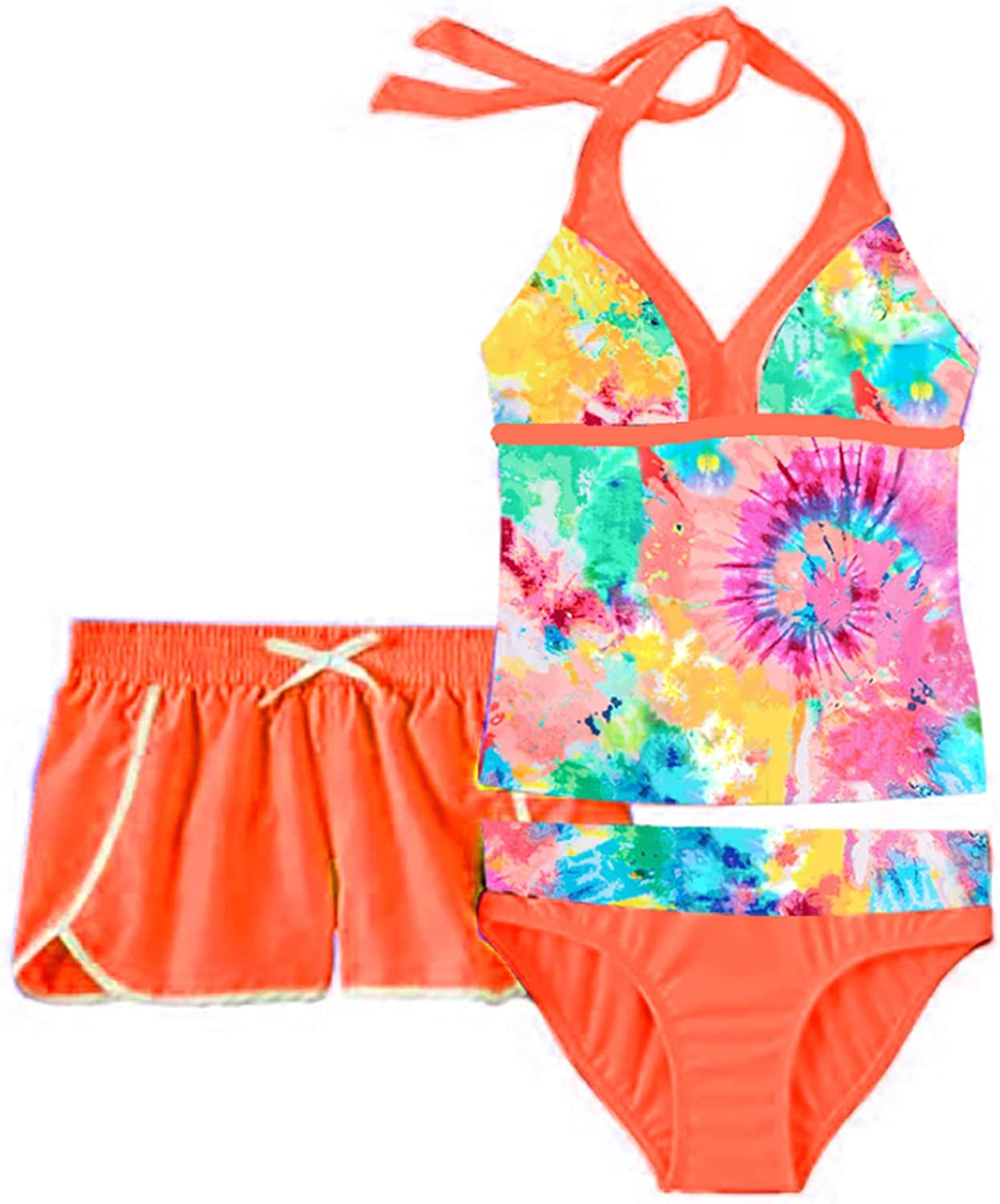 Choomomo Kids Girls 3 Pieces Tankini Tops Portland Mall Halter Crop Swimsuits Safety and trust