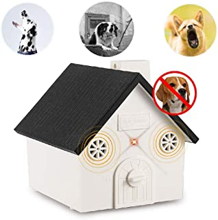 CY Ultrasonic Dog Anti Barking Device Newest Bark Controller Training Tool Sonic Bark Control Deterrent Outdoor Deterrent Silencer for Dog Safe to Pets