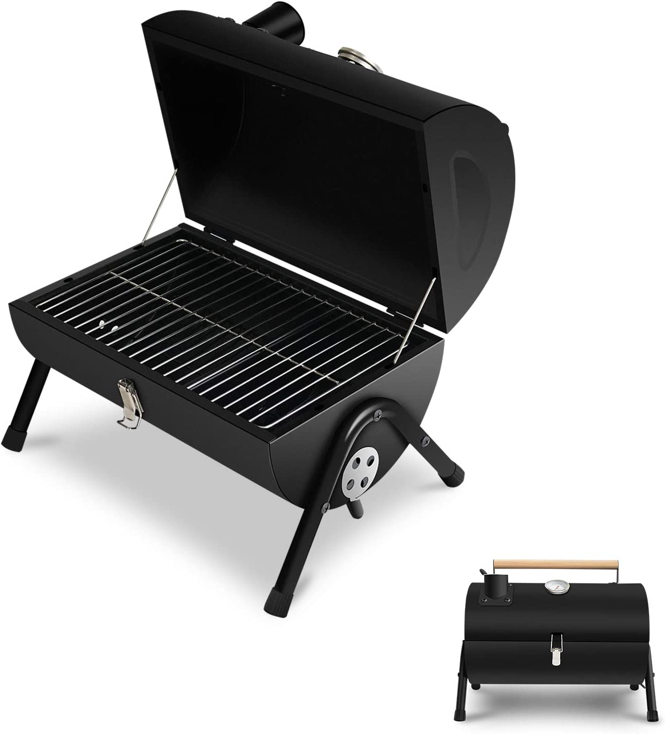 Camping and Picnic Black JJ JUJIN Charcoal Grill Portable BBQ Grill Foldable Barbecue Grills for Outdoor Cooking