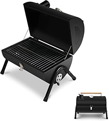 JJ JUJIN Portable Charcoal Grill Mini BBQ Grill for Outdoor Cooking, Camping and Picnic Black