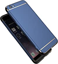 OPPO R9s Case, WindCase 3 in 1 Metal Texture Ultra Slim Plating Frame Hard Back Case Cover for OPPO R9s Blue