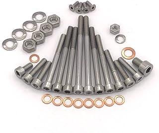 MZ ES 250/1 Motor Schrauben Satz Zylinderschrauben mit Innensechskant aus Edelstahl V2A, 38 teilig