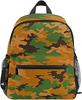 MONTOJ Grau Camouflage Weben Segeltuch Reisetasche Verstaubarer Unisex Schule Pack Daypack für Kinder