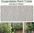 GLANT Lattice Fence Willow Expandable Plant Climbing Lattices Trellis Fence,Open Screen Willow Fencing,Willow Expandable Trellis Fence (2)