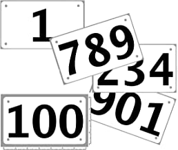 Race Numbers Official Competitor tryout tyvek bib Numbers, Set of 100, (Any 100 from 1-1,000) 4