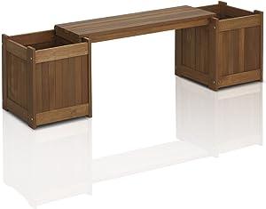 Furinno FG16011 Tioman Hardwood Planter Box in Teak Oil, Natural