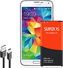 Galaxy S5 Battery, SUNZOS 3200mAh Li-ion Replacement...