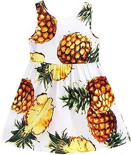 Welity Girls' Sleeveless Hawaiian Floral Dress