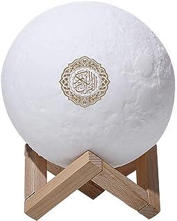 Altavoz Bluetooth táctil corán, altavoz con luz de luna colorida y colorido, con mando a distancia, pequeña lámpara LED inalámbrica, iluminación en el hogar, 3d, aprendizaje musulmán