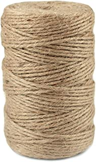 HQDeal Jute Twine Heavy Duty 6Ply Natural Thick Garden Twine Packing String Rope for Floristry, Gifts, DIY Arts&Crafts, De...