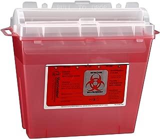 Bemis Healthcare 175030-5 5 Quart Sharps Container, Translucent Red (Pack of 5)