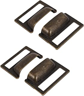 uxcell a16062000ux0476 File Drawer Handle Pull Label Tag Name Card Holder Bronze Tone 4pcs Pack of 4