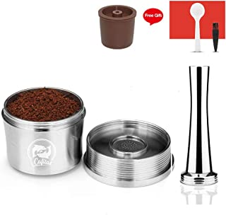 Stainless Steel Refillable Capsule Compatible for espresso Coffee Maker 1pcs coffee spoon,1pcs cleaning brush,1pcs tamper,1pcs stainless steel coffee pods
