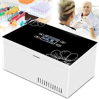 Medicin Kylskåp och Insulin Kylbox Bil Liten Kylskåp Insulin Kylare Resväska Inbyggt batteri & LED Display, för bilresor H...