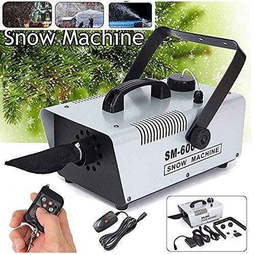 Schneemaschine 600W Mit Funk-Fernbedienung (30 M³/Min Schneeausstoß, Keine AufwäRmzeit, Tankvolumen: 1 Liter, Inkl. HäNgebüGel),White
