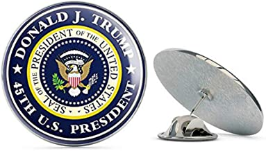 NYC Jewelers Round Donald J Trump 5th US President (Seal pro Logo) Metal 0.75