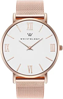 Stella - 2 Options - Womens Rose Gold Roman Numeral Numbers Watch