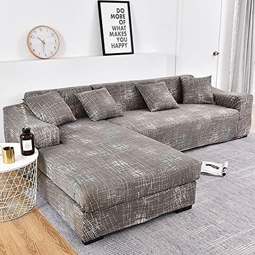 WXQY Fundas con Estampado Floral Fundas elásticas elásticas Funda de sofá Antideslizante Funda de sofá para Mascotas Esquina en Forma de L Funda de sofá Antideslizante A14 1 Plaza