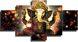 DJSYLIFE Elephant Wall Art -Ganesha Pictures of Hindu Gods on The Wall of Oil Painting Art Works - Elephant Paintings of Home Decor Posters for Zen - Office Zen and Massage Room Decor Ready to Hang