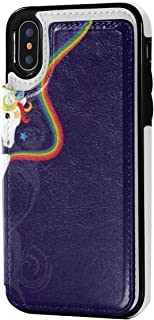 Rainbow Brite and Starlite Memories iPhone X/XS / 10 Wallet Case,Leather Protective Case with Card Slots,Magnetic Closure,(New Year's Gifts)