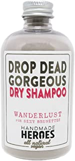 All Natural, Vegan Dry Shampoo Powder – For Blonde and Brunettes, Light, Medium to Dark Color & Brunette Hair – Volume Hair Powder Travel size 2 oz (Brunette - For Medium to Dark Hair)