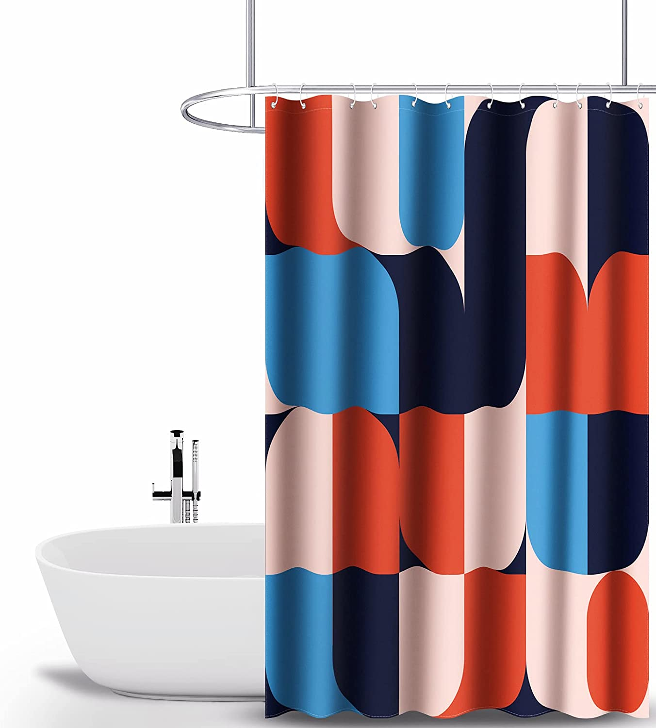 Shower sold out Curtain Kornculor Colorful Fabric Showe Waterproof Inventory cleanup selling sale Block