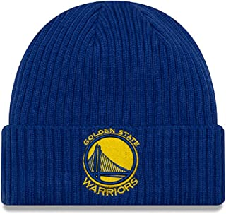 New Era Unisex Golden State Warriors Core Classic Knit Hat Knit Beanie, Adult, Royal, OS
