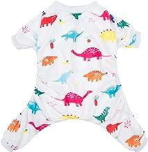 CuteBone Dog Pajamas Adorable Pet Clothes Jumpsuit Pjs Apparel Soft Fleece Cat Coat