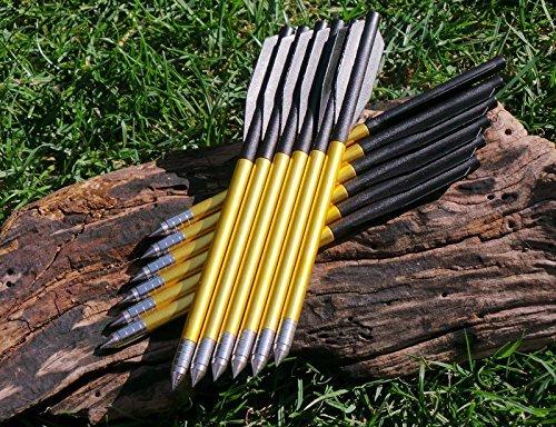 G8DS® 12 Pfeile für Pistolenarmbrust Aluminium 6,5