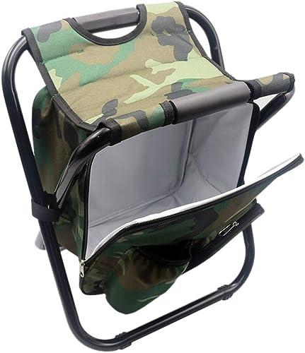 YAFEIYA portable Camping Pliant Sac à Dos, Double Oxford Camouflage Chaise De Pêche, Sac à Dos en Plein Air De Pique-Nique Camping Alpinisme Sac