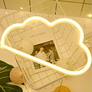 Cloud Neon Light Signs Wall Decor Battery and USB Operated Bedside Lamps Home Decoration for Living Room,Children's Bedroom,Party,Christmas & Birthday Gift