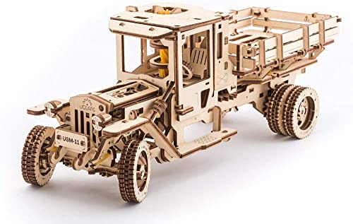 marcas de diseñadores baratos Ugears Camión Mecánico 3D Rompecabezas de Madera Kit Kit Kit de Construcción Sin Pegamento Para Niños y Adultos  minorista de fitness
