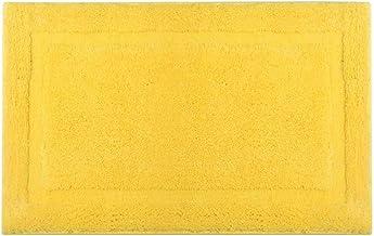 ESUPPORT Solid Colors Bath Mats Soft Water Absorbent Microfiber Rugs Shower Bathroom Floor Mat Non Slip, 20.8 x 33.8/Yellow