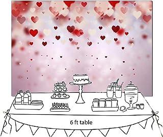FiVan 90128 Fotohintergrund für Valentinstag, Blumenmotiv, 226 x 150 cm, D 4908, 7x5ft(220x150cm)