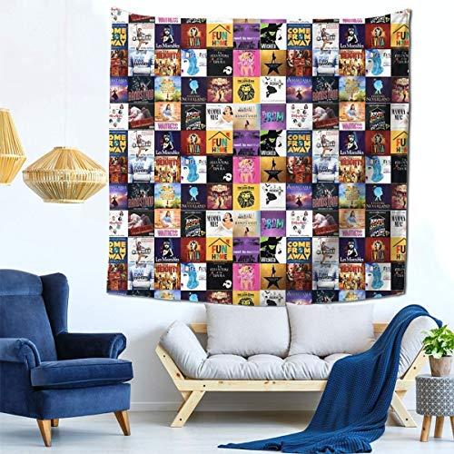 Baumlred Wandbehang Broadway 's Must Sees Tapisserie mit Art Nature Home Dekorationen in 149,9 x 149,9 cm