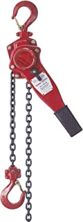 TOHO HSH-616 OP Lever Block/Ratchet Puller Hoist with Overload Protection (0.75 Ton, 20 Foot Chain)
