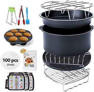 Accessoires pour friteuses à air , Les accessoires de l'air friteuse, convient pour friteuse à air toutes marques (7 pouce...