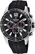 Festina Chrono Watch F20376/3 The Originals Black dial Black Strap