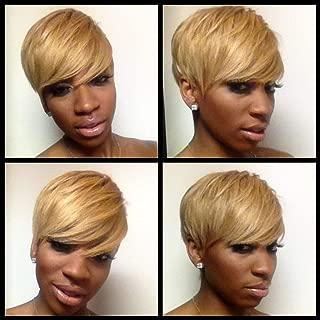 BeiSD Short Blonde Wig Synthetic Short Wigs for Black Women Short Pixie Cut Hair Wig Short Hairstyles Blonde Hair