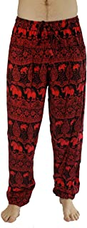 Men's Lounge and Bohemian Yoga Pants, Scrunched Bottom, Elastic Waist Stretches for Sizes M to XL (30-38)