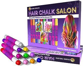 Desire Deluxe Hår Chalk presenter för flickor, hårkritor för hårfärgning leksak för jul, 10 tvättbara hårfärgningspenna, f...