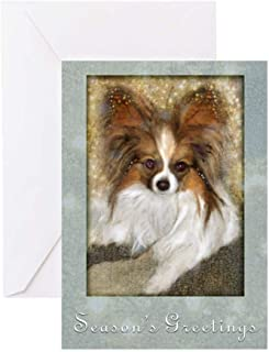 CafePress Butterfly Ears Papillon Greeting Cards (Pk Of 20 Greeting Card (20-pack), Note Card with Blank Inside, Birthday Card Matte