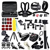 Soocoo Action Camera Accessories Kit for AKASO EK7000 APEMAN Campark ODRVM NEXGADGET EKEN WIMIUS Lightdow Vtin SJCAM SJ4000 5000 6000 7000 SOOCOO C30 C10S Cameras 49 Items