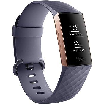 Fitbit Charge3 フィットネストラッカー BlueGrey/Rose Gold L/Sサイズ [日本正規品] FB410RGGY-CJK