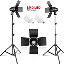 LimoStudio [2PACK] Photography Photo Studio Continuous LED Day Light Bulb Barndoor Light..